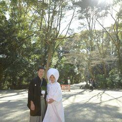 挙式前撮影 糺の森の写真 4枚目