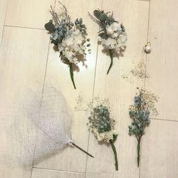 花嫁DIY(ヘッドドレス、ピアス)の写真 1枚目