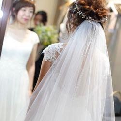 花嫁DIY(ヘッドドレス、ピアス)の写真 2枚目