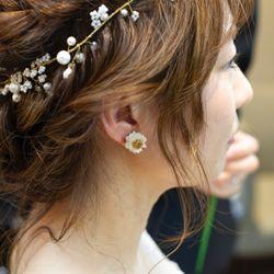 花嫁DIY(ヘッドドレス、ピアス)の写真 3枚目