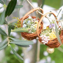 花嫁DIY(結婚証明書、リングピロー、両親贈呈品の年輪の掛け時計)の写真 1枚目