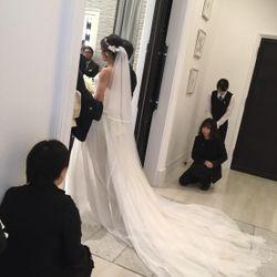 ウェディングドレスの写真 9枚目