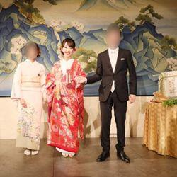 新婦中座、弟・いとこと退場→色打掛撮影の写真 4枚目