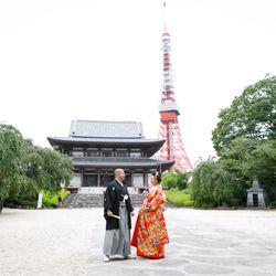 和装前撮り(増上寺・ニューオータニ庭園)の写真 3枚目