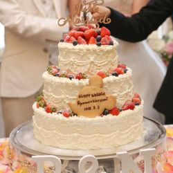 ウエディングケーキ(披露宴)の写真 3枚目