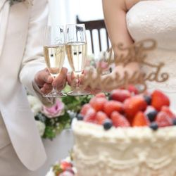 ウエディングケーキ(披露宴)の写真 9枚目