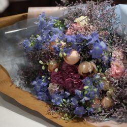 プレゼントの花束とアフターブーケの写真 2枚目