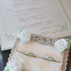 指輪 リングピロー 結婚証明書の写真 1枚目