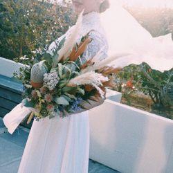 ドレス、小物、ブーケ、挙式、ブーケトスの写真 2枚目