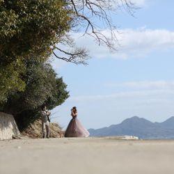 カラードレス前撮りの写真 4枚目