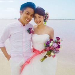 新婚旅行:ピンクレイク(メキシコ)の写真 2枚目