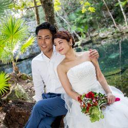 新婚旅行:セノーテ(メキシコ)の写真 4枚目