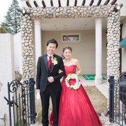 赤ドレスの写真 2枚目
