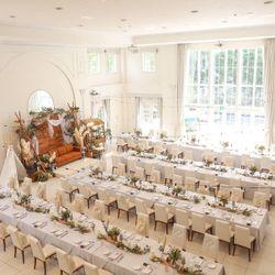 流しテーブル ゲストテーブル装花の写真 1枚目