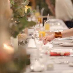 流しテーブル ゲストテーブル装花の写真 2枚目