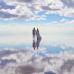 前撮り(ウユニ塩湖)の写真 3枚目