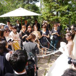 挙式後ガーデンセレモニーの写真 3枚目