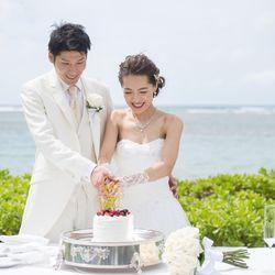 ケーキ入刀 @hawaii挙式の写真 2枚目