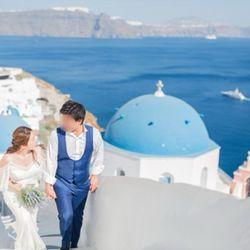 サントリーニ後撮り 新婚旅行の写真 1枚目