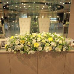 披露宴会場の装花や装飾の写真 5枚目