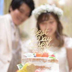 ケーキ入刀、ファーストバイトの写真 3枚目