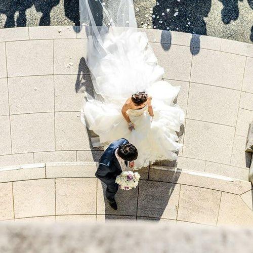 庭園乾杯、フラワーシャワーの写真 1枚目