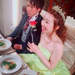 披露宴 カラードレス 美女と野獣テーマの写真 2枚目