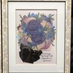 プレゼントの花束とアフターブーケの写真 1枚目