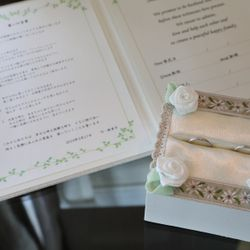 指輪 リングピロー 結婚証明書の写真 2枚目