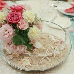 ウェルカムスペース、ゲストテーブル、ケーキ、高砂、もぎり札の写真 3枚目