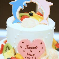 装花、高砂、ブーケ、ケーキの写真 1枚目