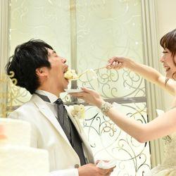 ケーキ入刀〜ファーストバイトの写真 12枚目