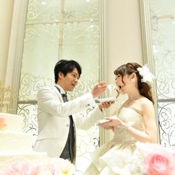 ケーキ入刀〜ファーストバイトの写真 9枚目