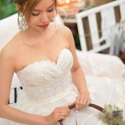 結婚パーティーヘアメイクの写真 4枚目