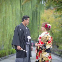 京都での前撮りの写真 4枚目