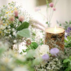 高砂 テーブル装花の写真 6枚目