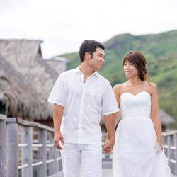 新婚旅行でのウエディングフォトの写真 2枚目