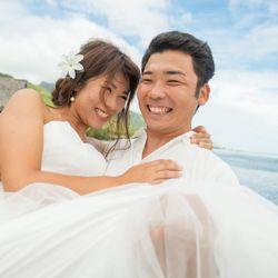 新婚旅行でのウエディングフォトの写真 3枚目