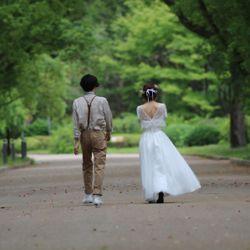 植物園セルフ前撮り*の写真 2枚目