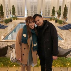後日 結婚式場でのクリスマスパーティーにての写真 1枚目
