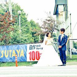 ウエディングドレス前撮りの写真 12枚目