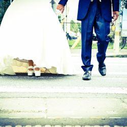 ウエディングドレス前撮りの写真 2枚目