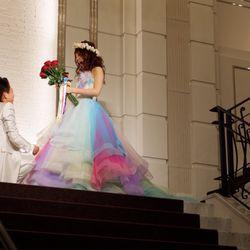 披露宴 カラードレスの写真 1枚目