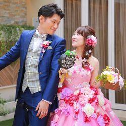 カラードレス♡ツーショットの写真 1枚目