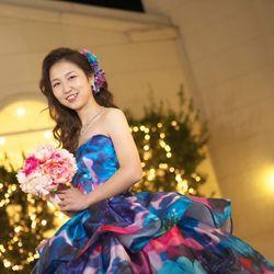 洋装前撮り カラードレスの写真 3枚目