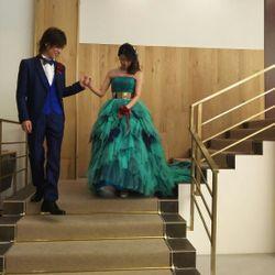 披露宴カラードレスの写真 4枚目