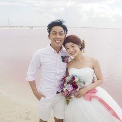 新婚旅行:ピンクレイク(メキシコ)の写真 1枚目