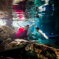 新婚旅行:セノーテ(メキシコ)の写真 2枚目