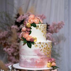 ウェディングケーキ(ハワイ挙式、国内披露宴)の写真 3枚目