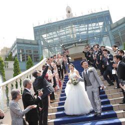 挙式後〜フラワーシャワーの写真 1枚目